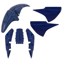 Kit Plástico Carenagem Honda Cg Titan 150 2008 Cor Azul