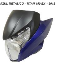 Carenagem Frontal+farol+laterais Titan 150 - Azul 2012