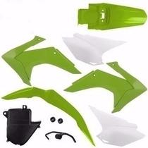Kit Plástico Roupa Crf230 2015 Verde + Brinde