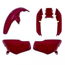 Kit Plástico Carenagem P/ Titan Cg 125 Ano 1997 - Vermelho
