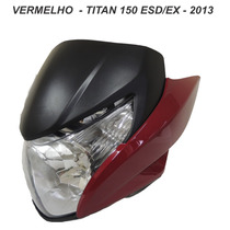 Carenagem Frontal+farol+laterais Titan 150 -vermelho 2013