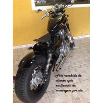 Paralama Artesanal Aço Para Moto Bobber Custom Café Racer