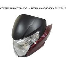 Carenagem Frontal+farol+laterais Titan 150 -vermelho 2011/12