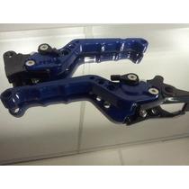 Manete Esportivo Azul Cbx 250 Twister Com 6 Regulagens (par)