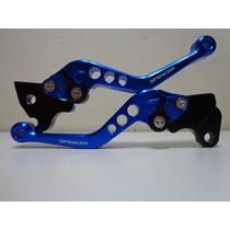 Manete Esportivo Alum.azul C/ 6 Reg Yamaha Lander 07-08