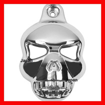 Capa Da Buzina Skull Caveira Cromada Para Harley Menor Preço