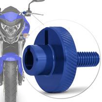 Regulador Embreagem Moto Universal Esportivo Azul Racing M10