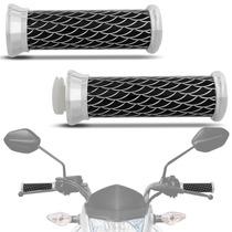 Manopla Para Moto Guidão Skin Long Moto Universal Com Escama