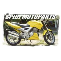 Spoiler Motor Honda Cbx250 Twister Gel Primer / Preto Fosco