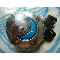 Tampa Do Tanque Cg Bolinha 77 À 82 Cromada Com 2 Chave Honda