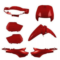 Kit Tampas+carenagem Completo Biz 100 Vermelho 98/99/00/01