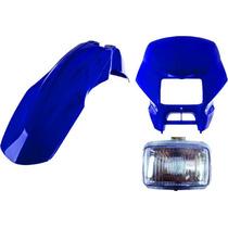 Carenagem+farol+paralama Diant Bros 125 Azul 2003/2004