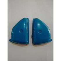 Tampa Lateral Cg 125 77 Até 82 Bolinha Azul ( Par ) Pintada