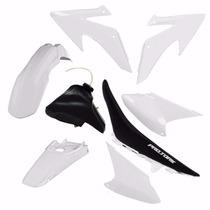 Kit Plasticos Crf230 Conjunto Branco + Tanque + Banco