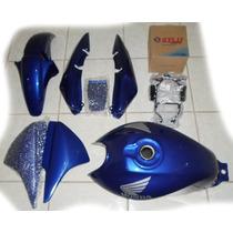 Kit Completo Carenagem E Tanque Cg 150 07/08 Azul