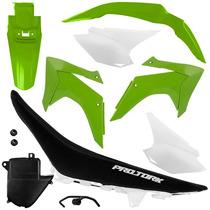 Kit Plástico Crf 230 2015 Green Com Banco