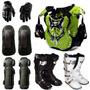 Kit Pro Tork Proteção P/ Trilha Motocross Off Road Enduro