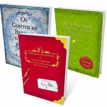 Box Biblioteca Hogwarts Harry Potter Kit 3 Livros Lacrados