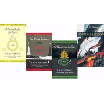 Trilogia O Senhor Dos Anéis + Silmarillion Tolkien 4 Livros