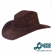 Chapeu Americano Couro Country Cowboy Masculino Feminino Ach