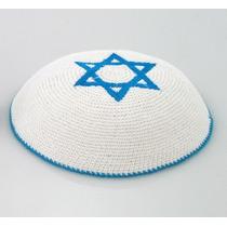Kipá Crochet - Estrela De Davi