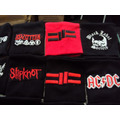 Munhequeiras Dio, Slipknor, Twisted Sister, Skid Row Patches