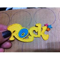 Aplique Bordado P/roupas, Rock (amarelo) - R$ 5,00