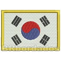 Bin040 Bandeira Coreia Patch Bordado Mochila Bolsa Viagem F1