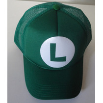 Boné Trucker Tela Luigi Mario Brothers