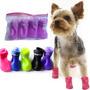 Pet Cão+bota Sapato Anti-derrapante Impermeável Sili