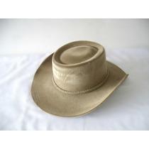 M- Chapéu Country Australiano Rodeio Cor Camurça Aba 8,8cm