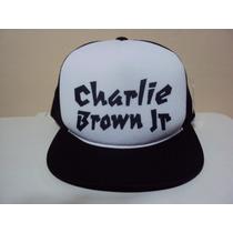 Boné Aba Reta Charlie Brown Jr Trucker Com Frete Grátis