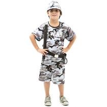 Fantasia Policial Swat Infantil Completa C/ Boné