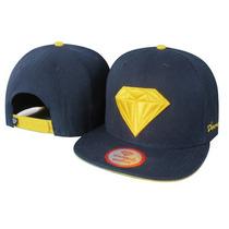 Boné Azul E Amarelo Snapback Diamond Supply Pronta Entrega