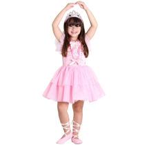Fantasia Da Barbie Quero Ser Bailarina De Luxo C/ Sapatilha