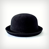 Gg- Chapéu Chaplin Coco 3,5cm De Aba Preto