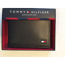 Carteira Tommy Hilfiger Bifold Preta Modelo 7