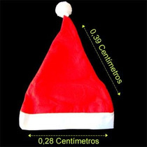 2 Touca Gorro Papai Noel Natal 39cm X 28cm Unisex