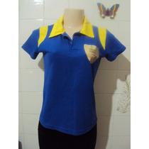 Blusa Azul E Amarela Torcida Dunluce Copa 2010 Package Tam M