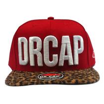 Boné Strapback Drcap Leopard Black Red Cinto Premium Fivéla