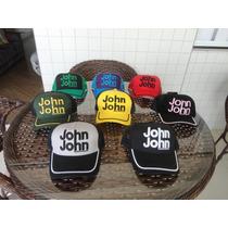Boné John John Branco X Preto E Outras Cores