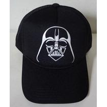 Boné Darth Vader Star Wars Guerra Nas Estrelas Trucker Cap