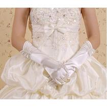Luva Para Noiva Princesa Fantasia Tecido Acetinado Elastano