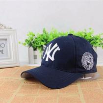 Boné New York Yankees Aba Curva Hip Hop - Azul Importado