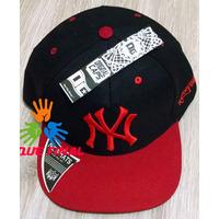 Boné Aba Reta New York Ny Yankees Preto Com Vermelho