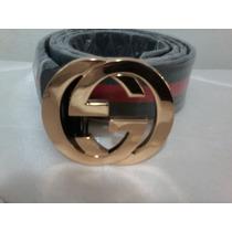 Cinto Importado Unissex Gucci Fivela Dourada