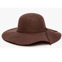 Chapéu Floppy Marrom Boho Tendência Aba Curta Qualidade Top