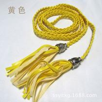 Lindo Cinto Amarelo Fininho Com Penduricalhos