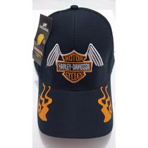 Boné Harley Davidson Moto Custom Hd Rock Gp Ñ Vr 46