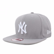 Boné New York Yankees Cinza Original Fit Snapback Aba Reta
